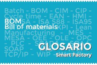 BOM (Bill of materials) componentes para fabricación de un producto